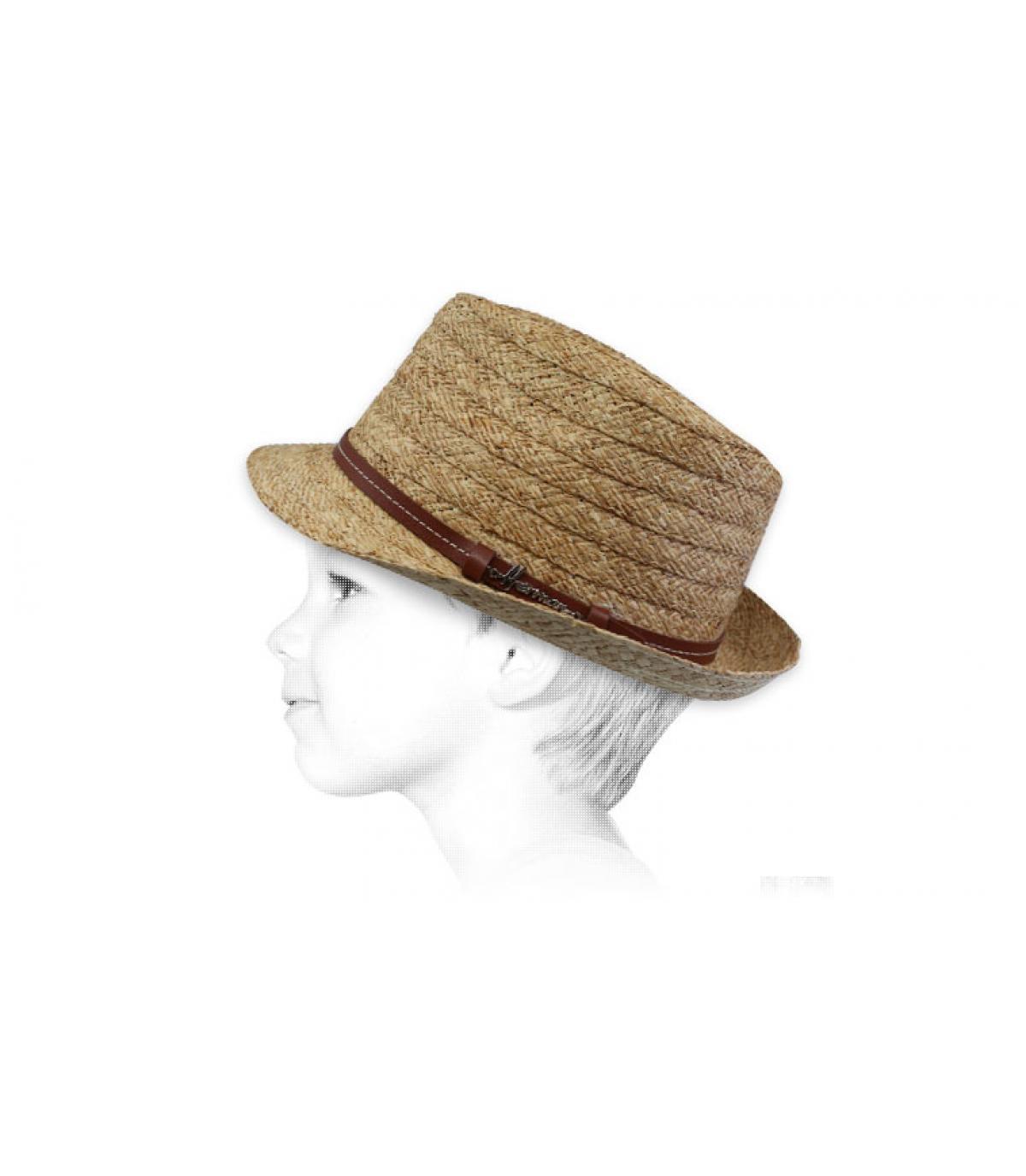 chapeau enfant paille