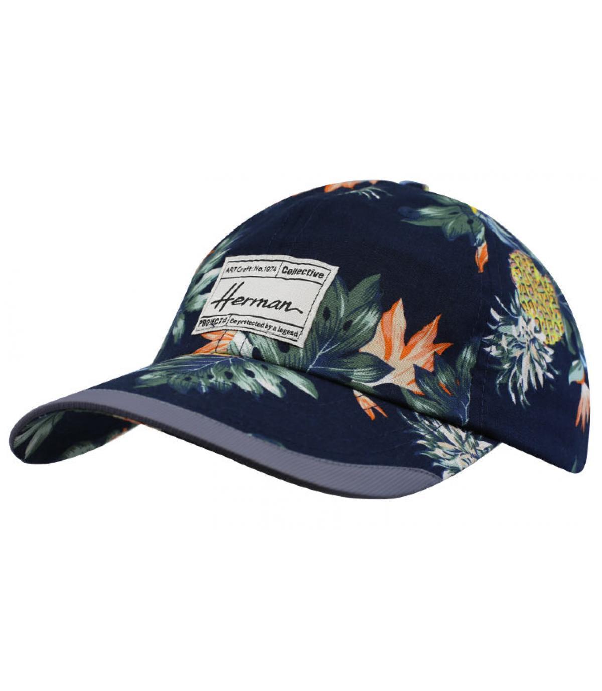 casquette bleu tropical