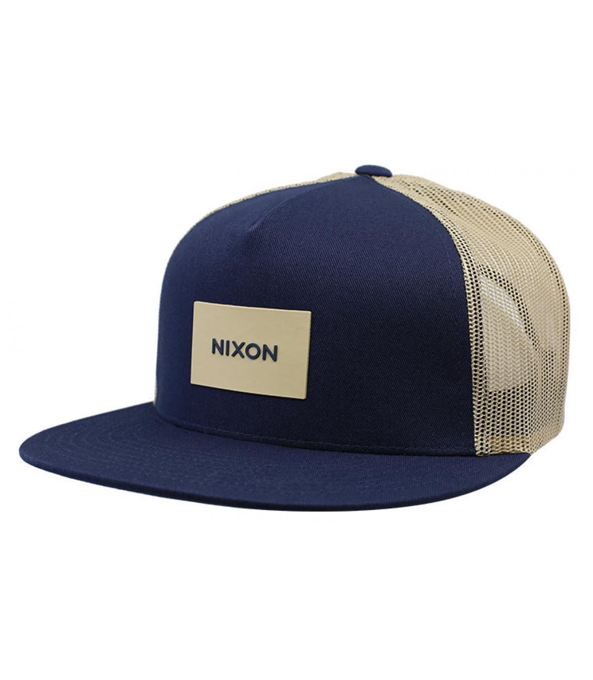 trucker bleu beige Nixon