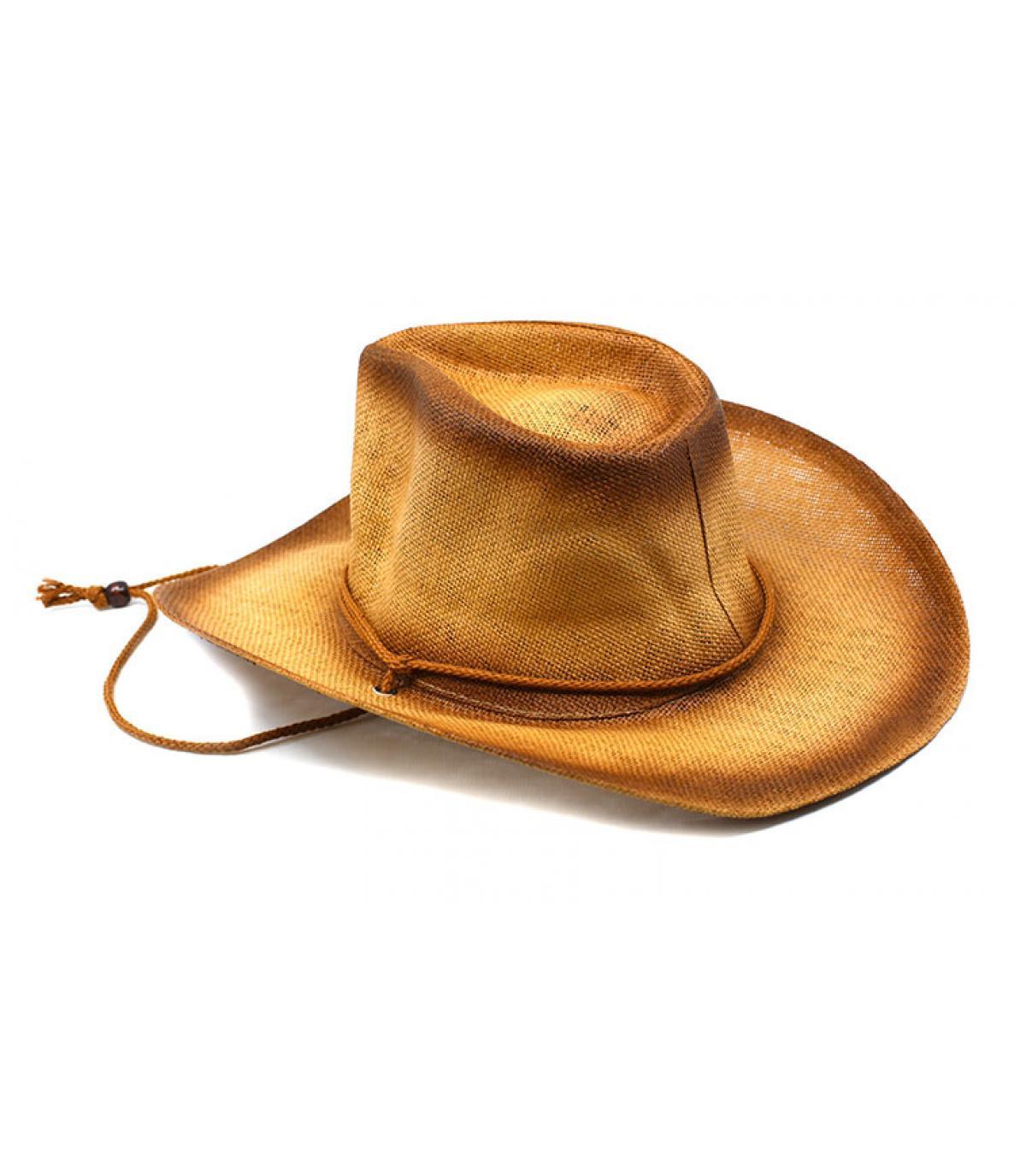 chapeau cow-boy paille