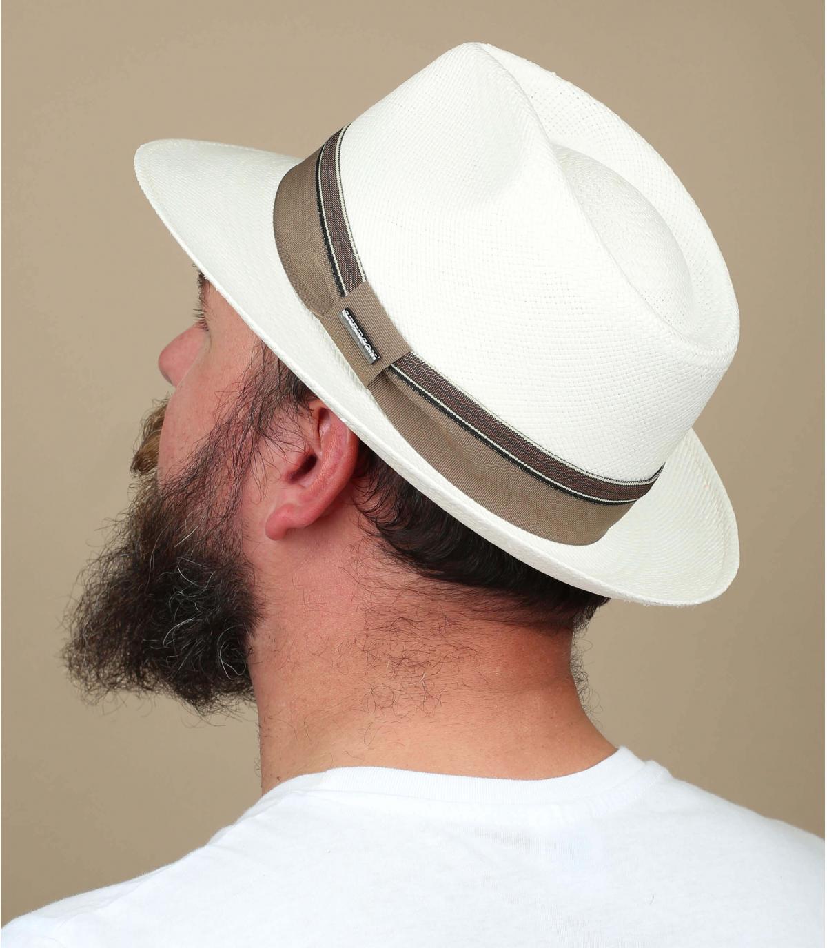 chapeau panama blanc