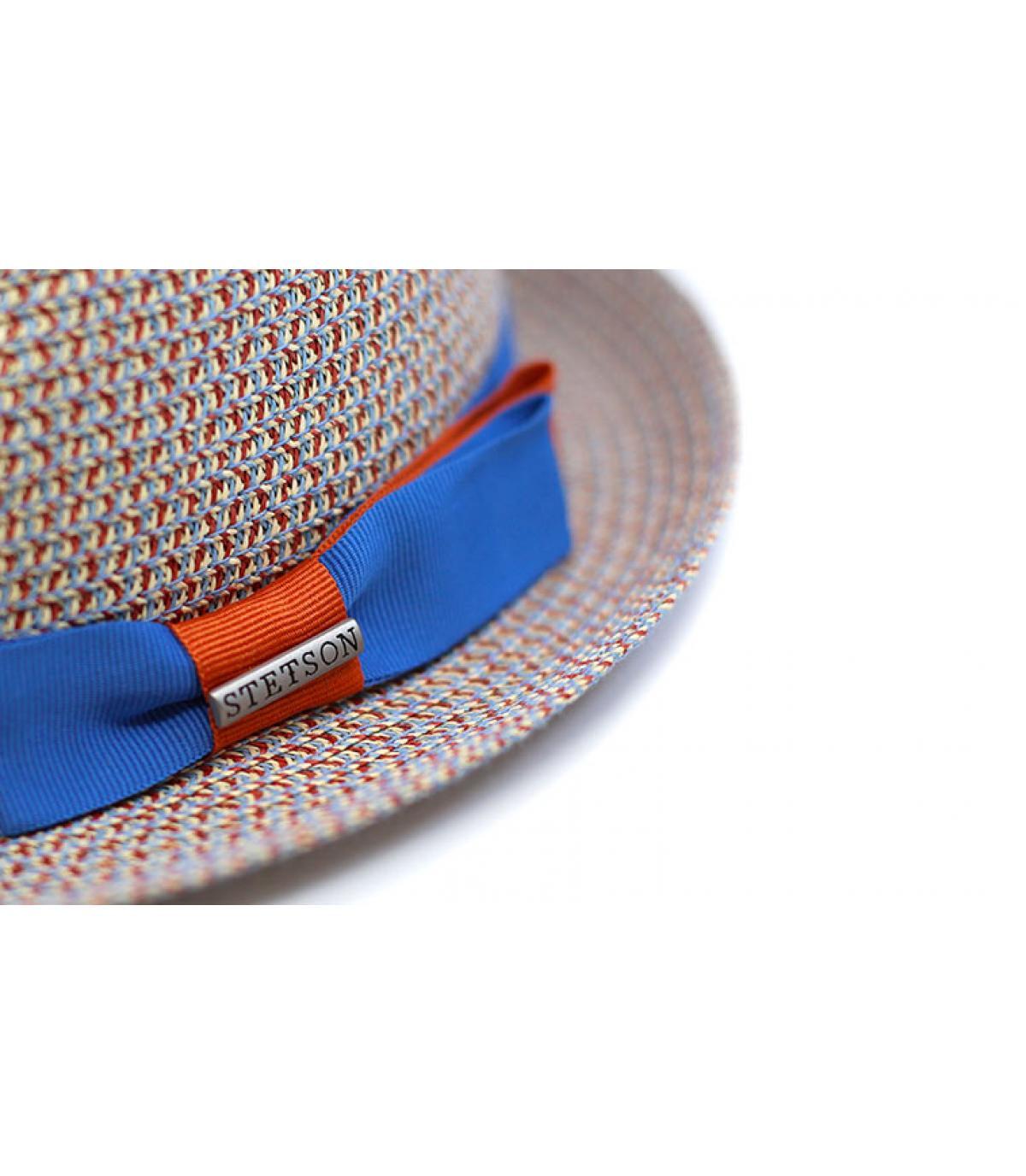 Détails Trilby Toyo blue beige - image 3