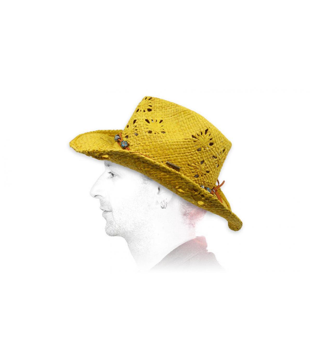 chapeau cowboy paille Stetson