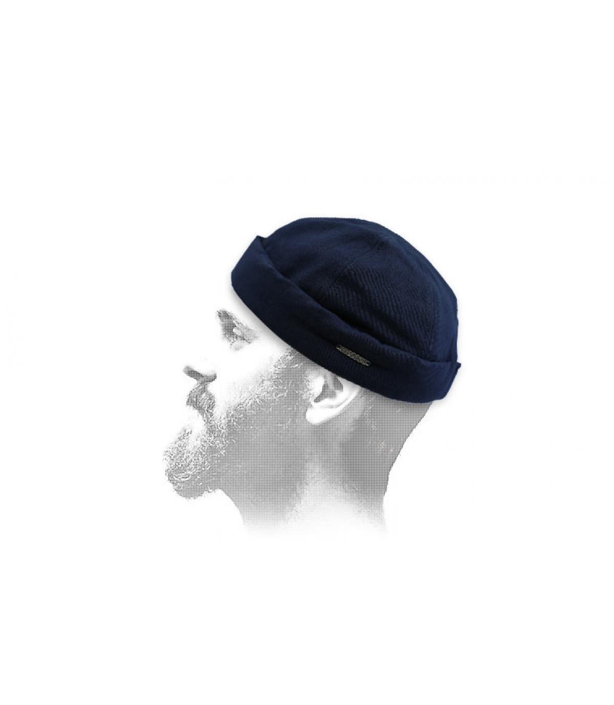 bonnet docker bleu Stetson