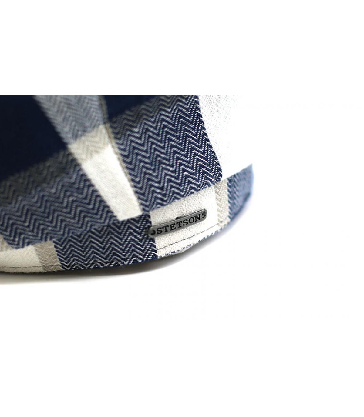 Détails Hatteras Linen Check beige blue - image 3