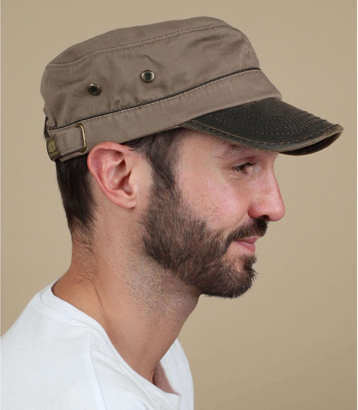 casquette army marron