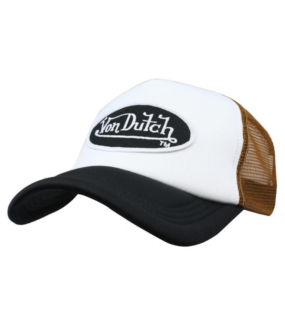 trucker Von Dutch blanc marron