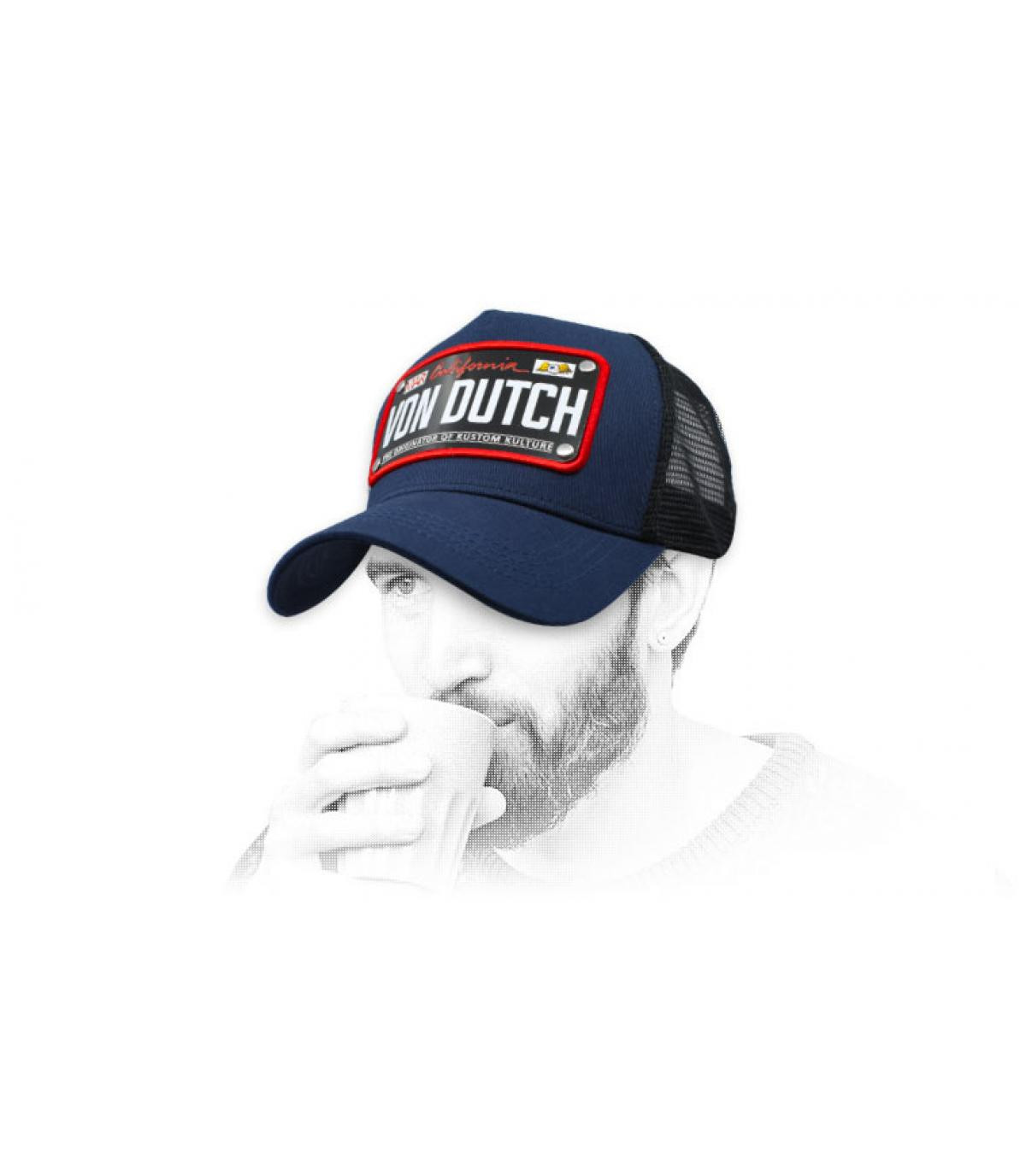 trucker Von Dutch bleu