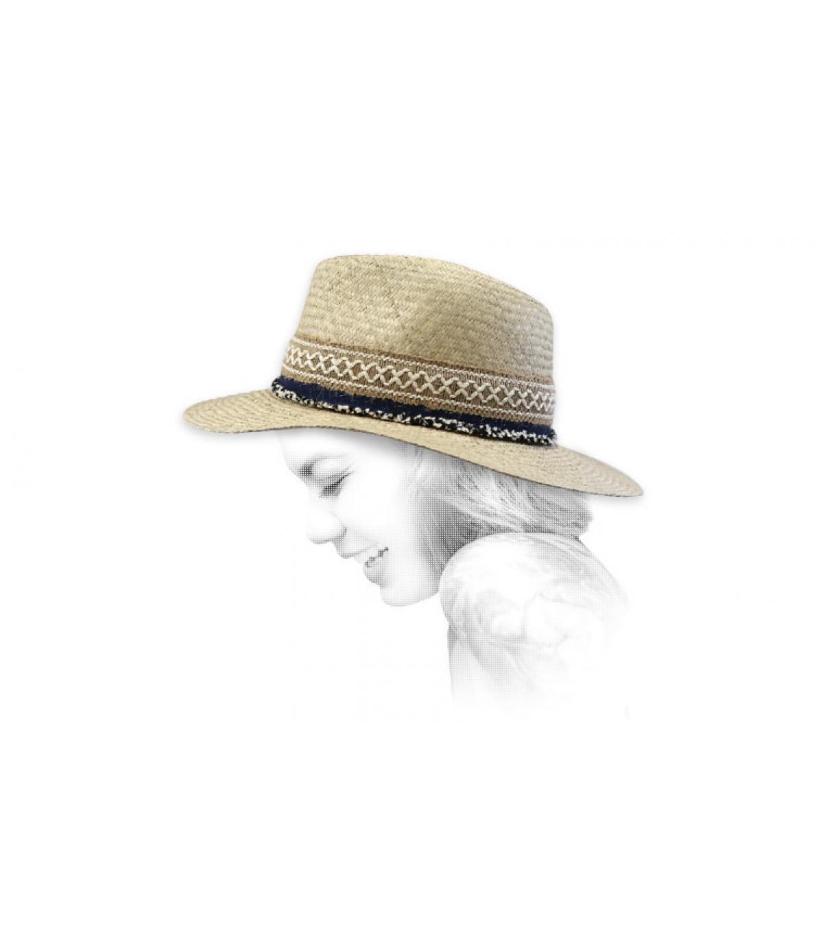 chapeau paille boho