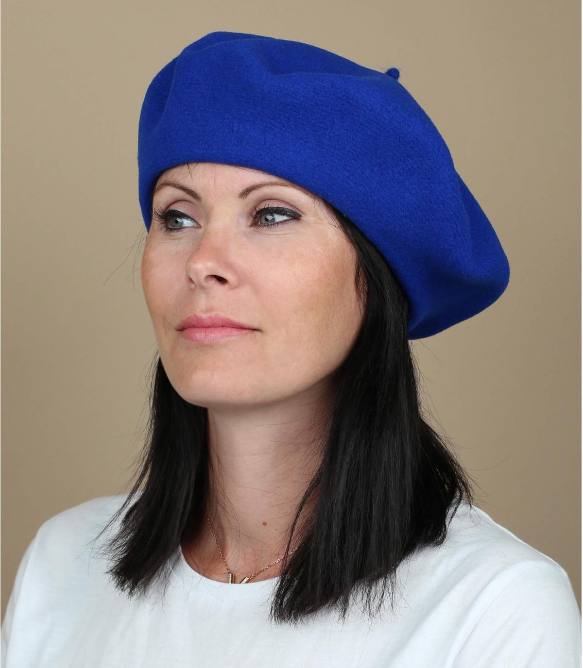 Béret femme bleu