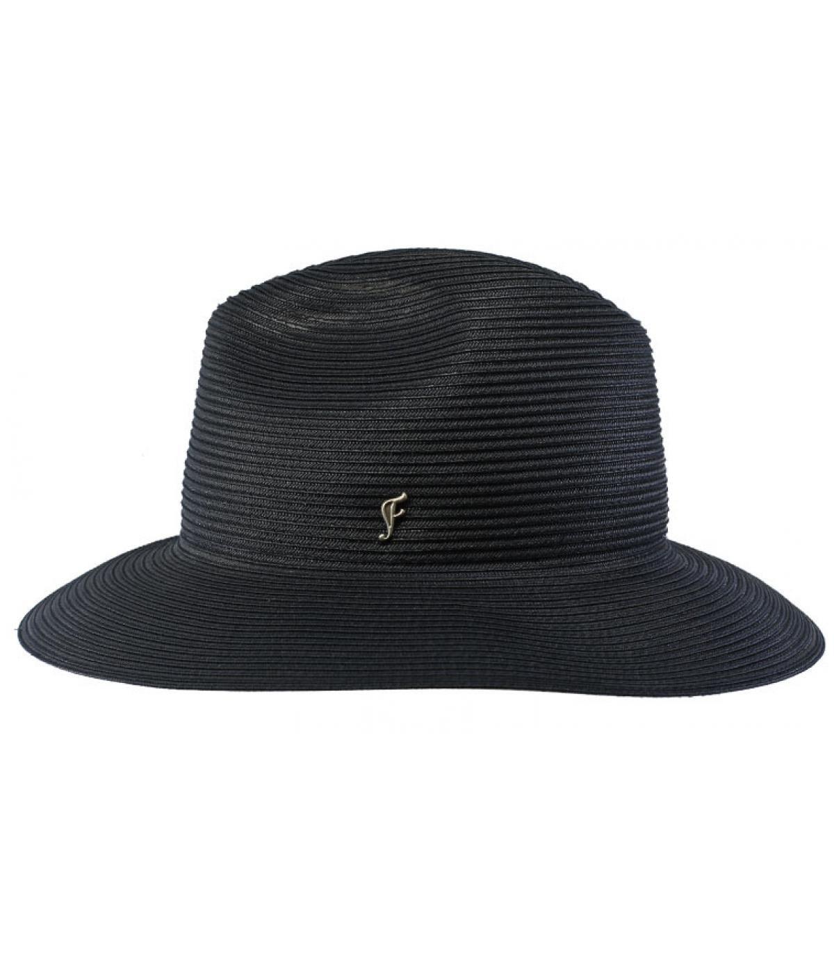 chapeau bleu marine rose