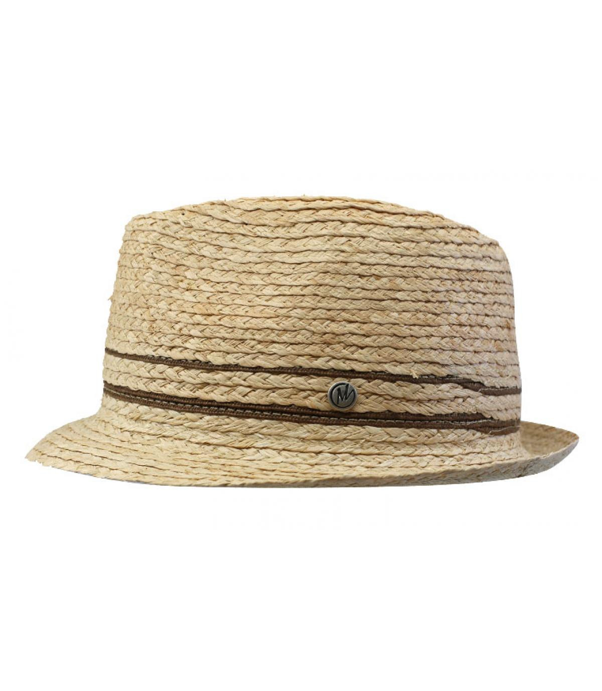 trilby paille rayure