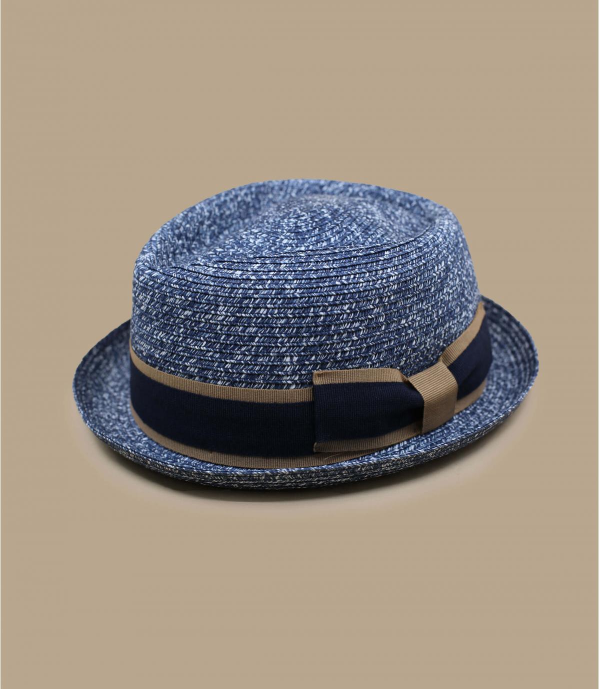 chapeau paille bleu galon