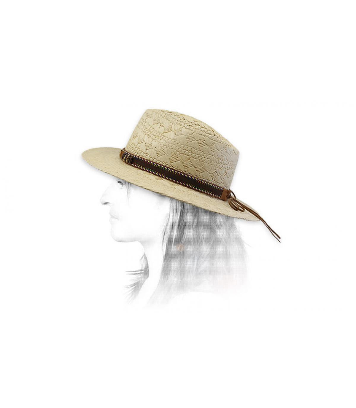 chapeau paille lien
