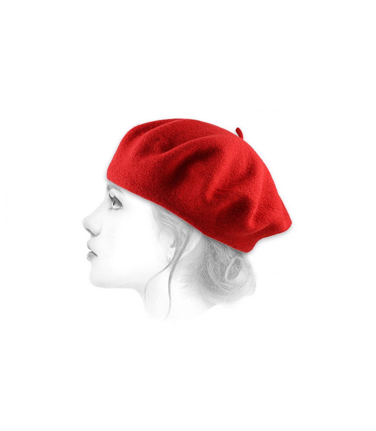 b ret femme rouge beret classique rouge par le b ret. Black Bedroom Furniture Sets. Home Design Ideas