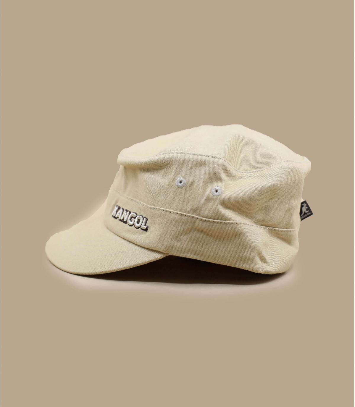 Détails Cotton Twill Army Cap beige - image 3
