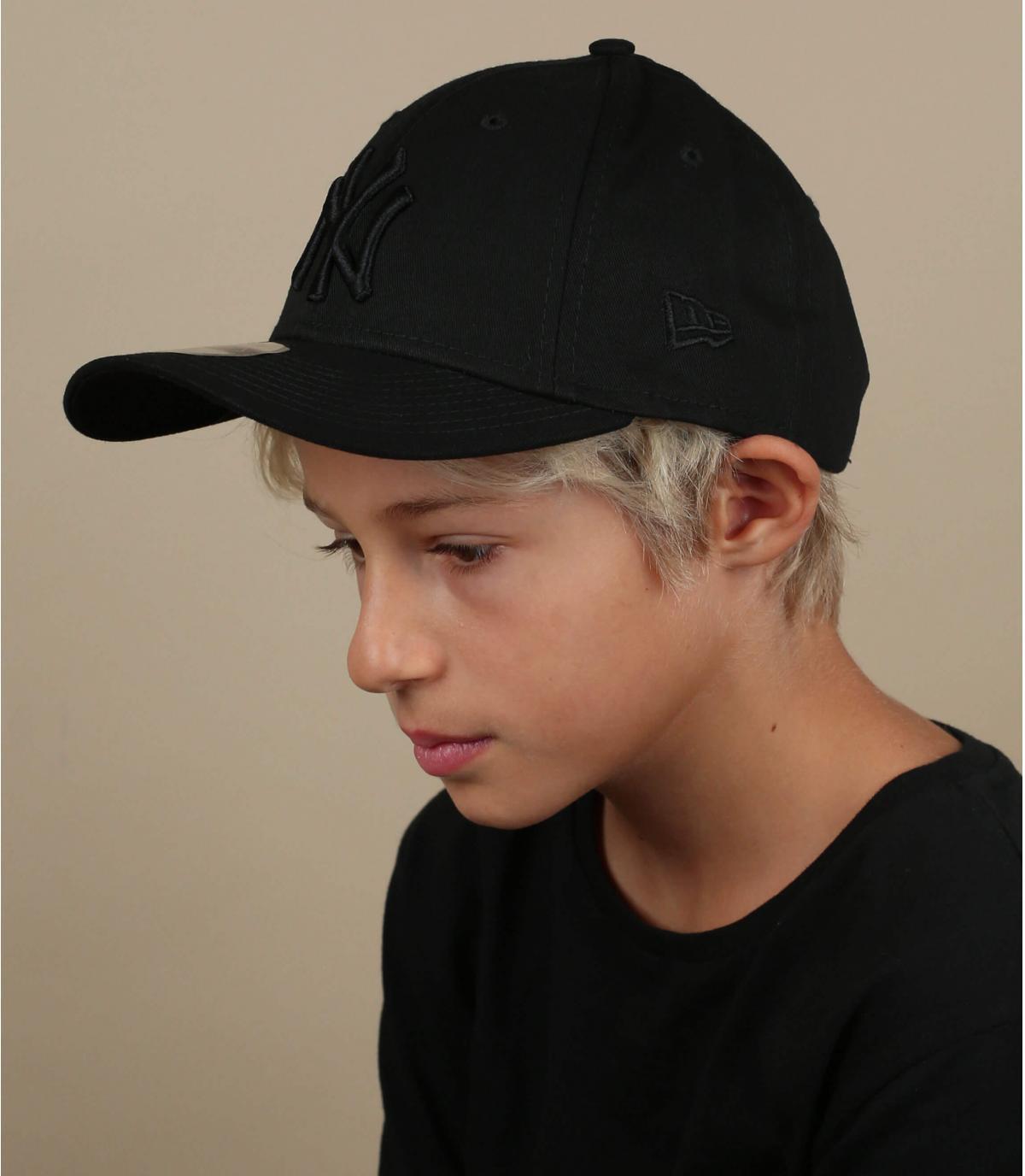 casquette NY enfant noir