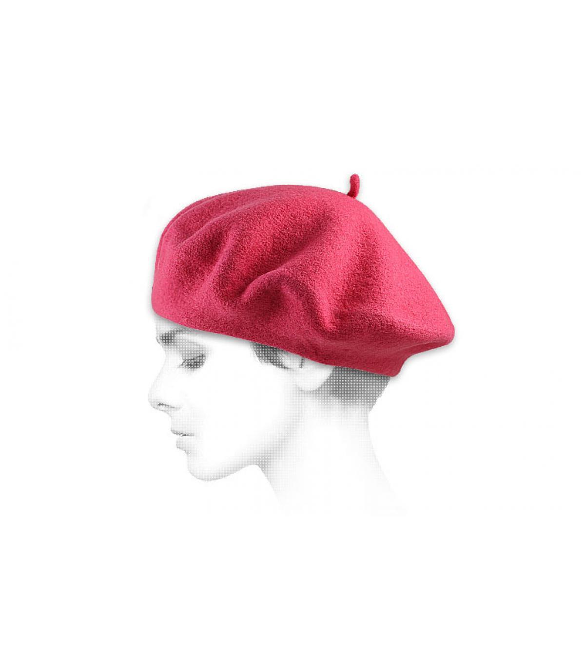 Béret femme rose