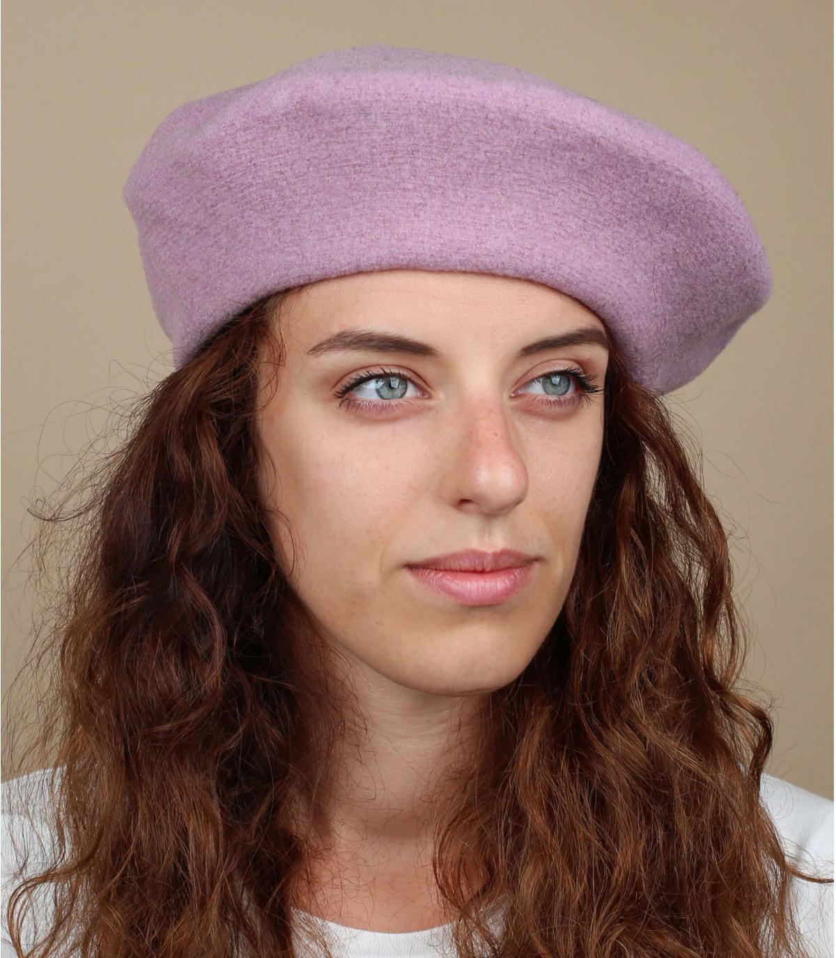 Béret femme violet