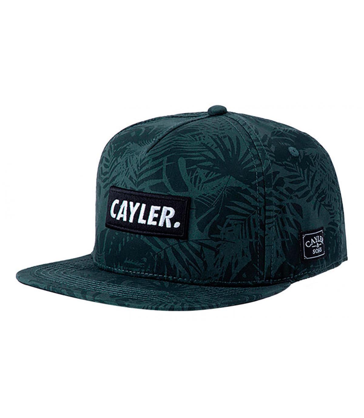snapback Cayler vert feuilles