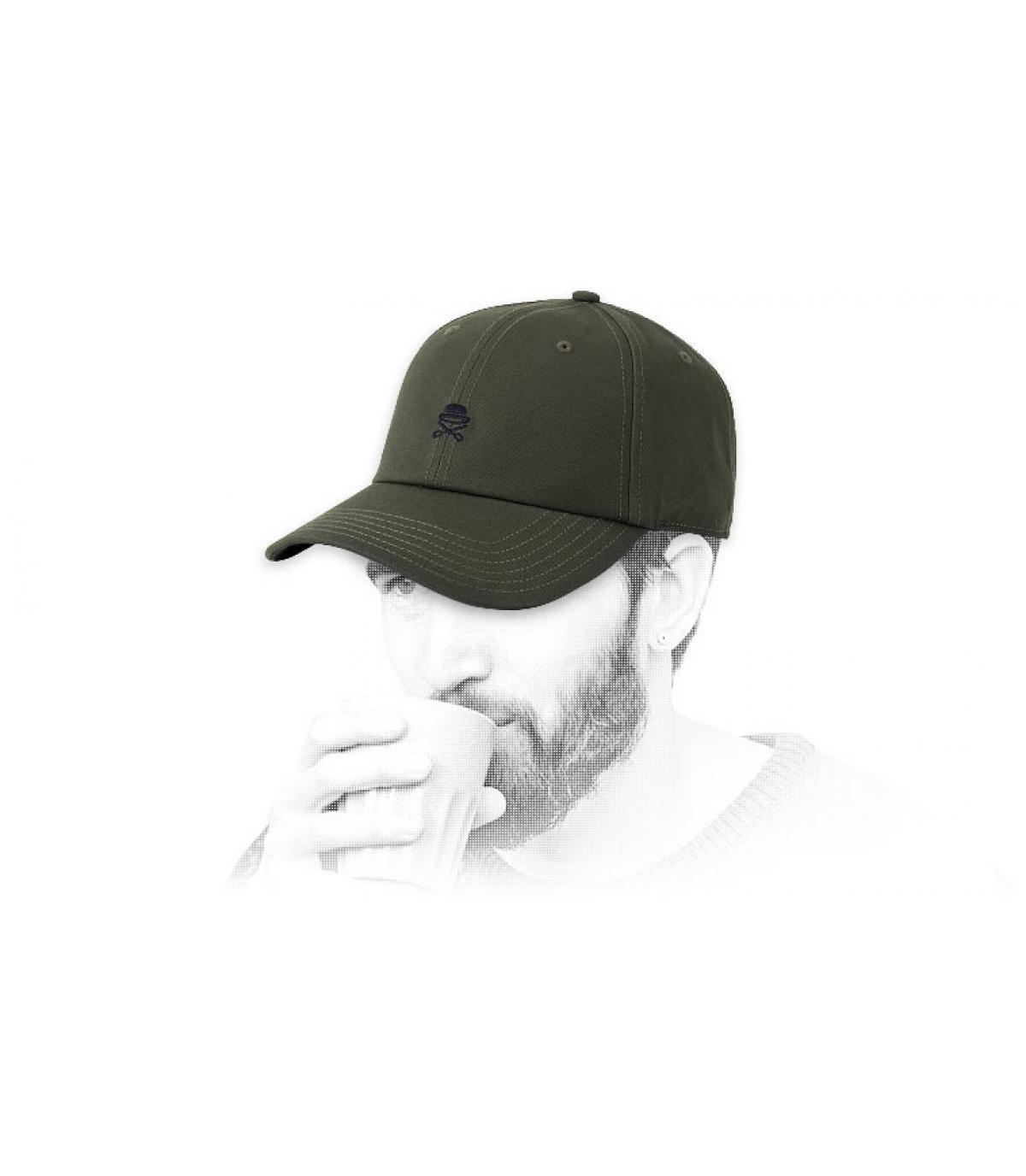 casquette logo Cayler vert