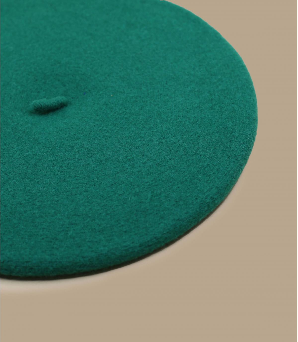 Détails Beret classique vert emeraude - image 2
