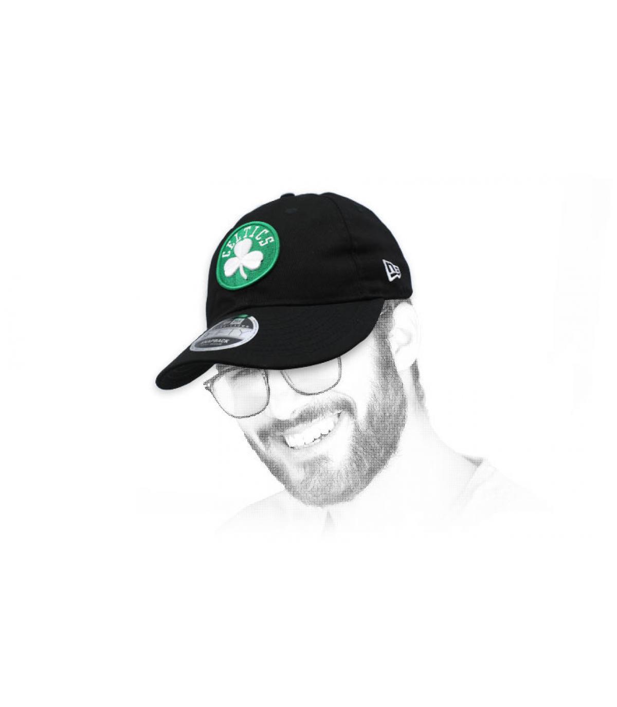 snapback Celtics noir rétro