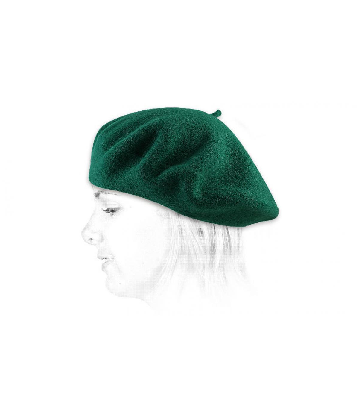 Détails Beret classique vert emeraude wm - image 2