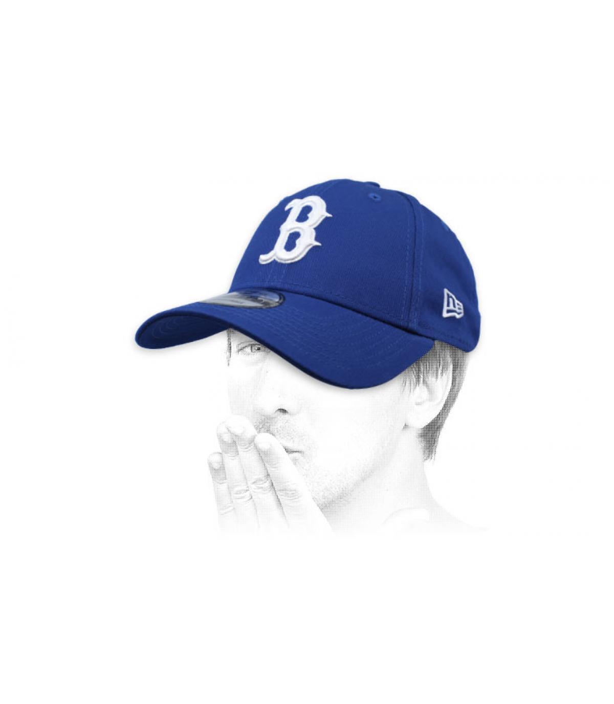 casquette B bleu