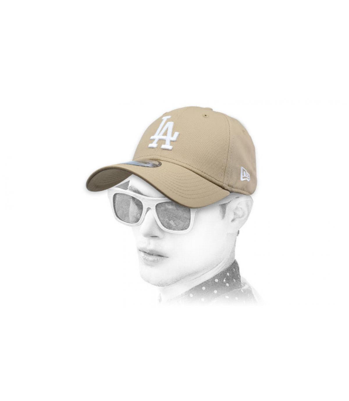 casquette LA beige