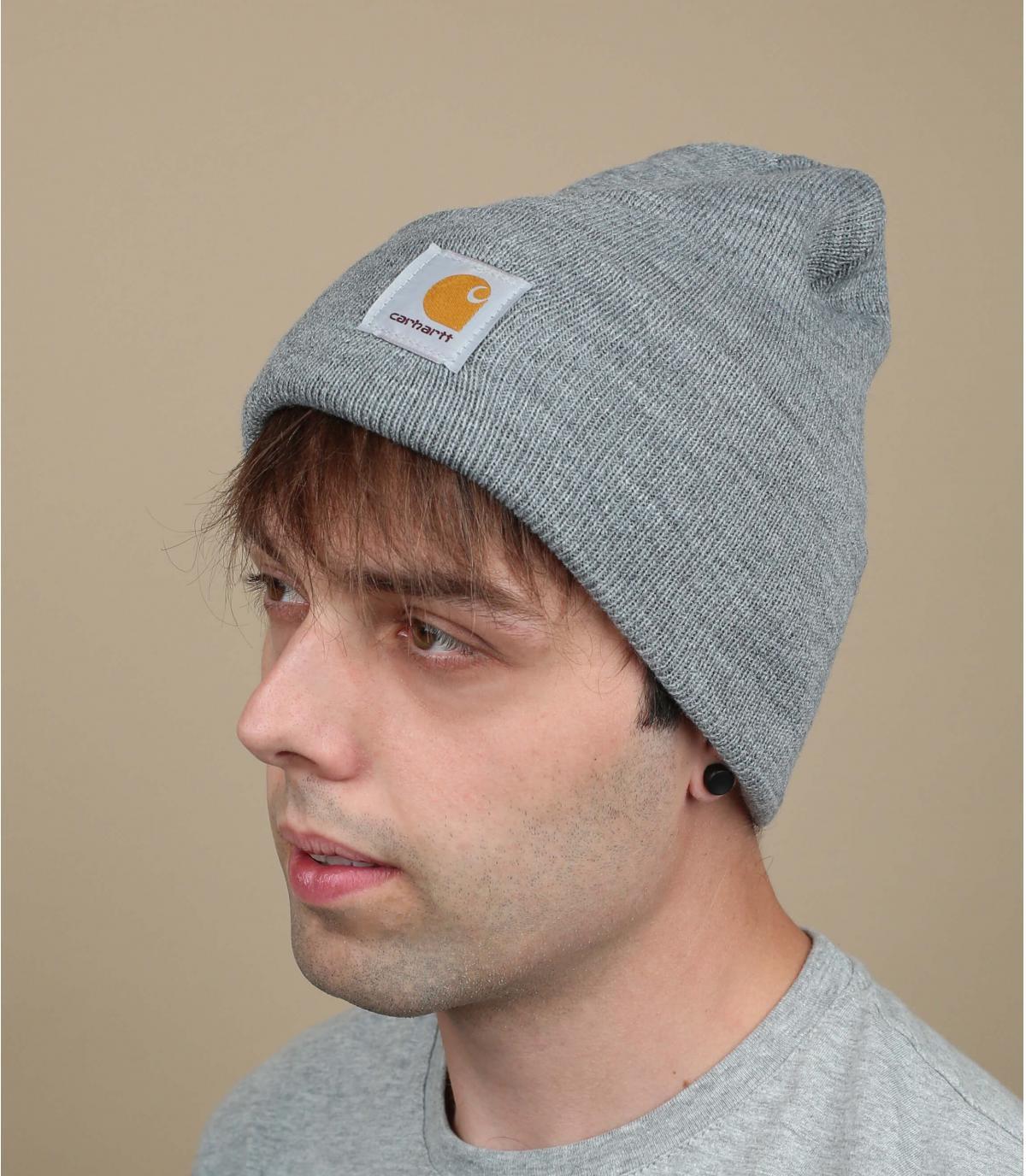bonnet gris carhartt