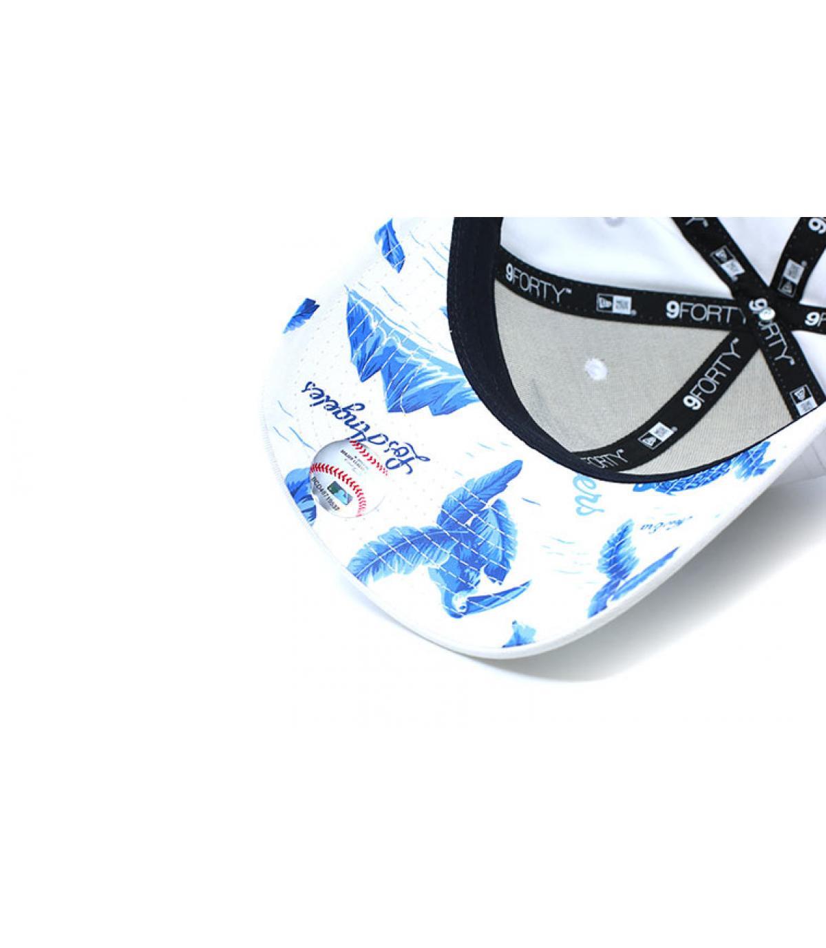 Détails Casquette MLB Light Weight LA 9Forty white blue - image 3