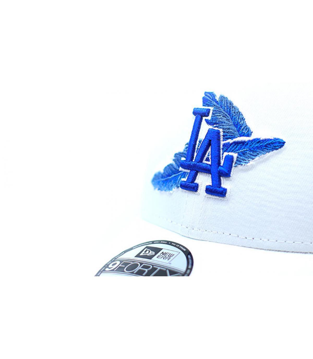Détails Casquette MLB Light Weight LA 9Forty white blue - image 4