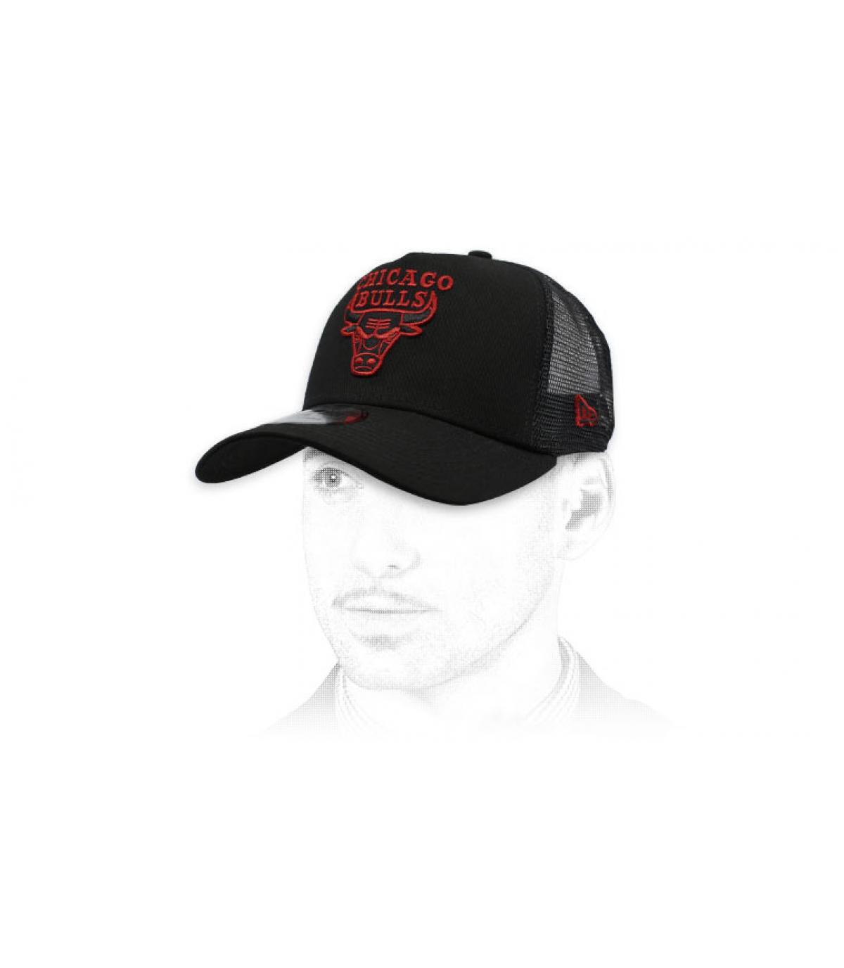trucker Bulls noir rouge
