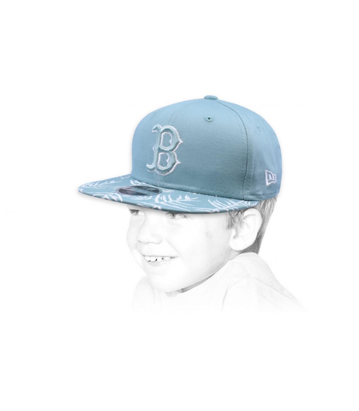 snapback enfant bleu B