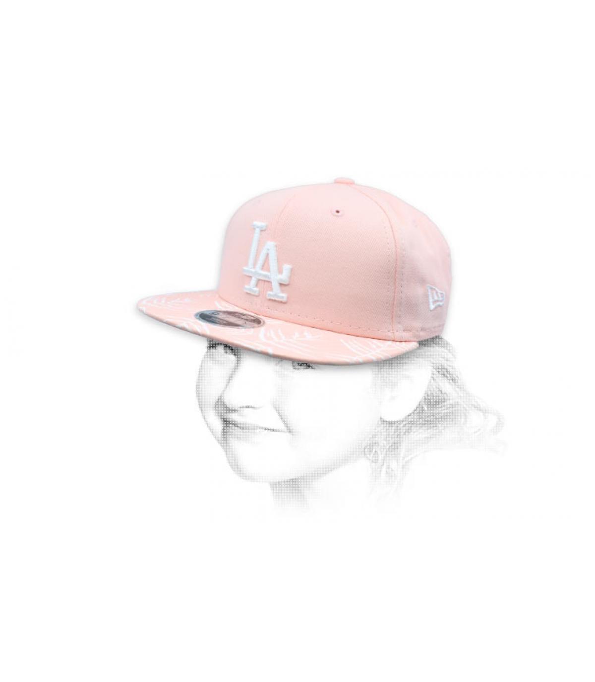 snapback LA enfant rose