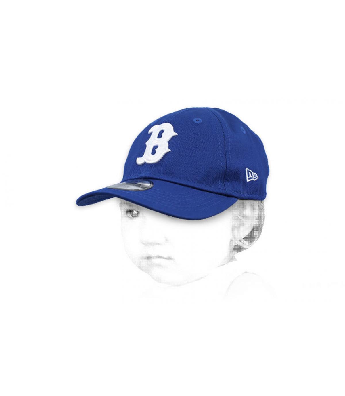 casquette bébé B bleu