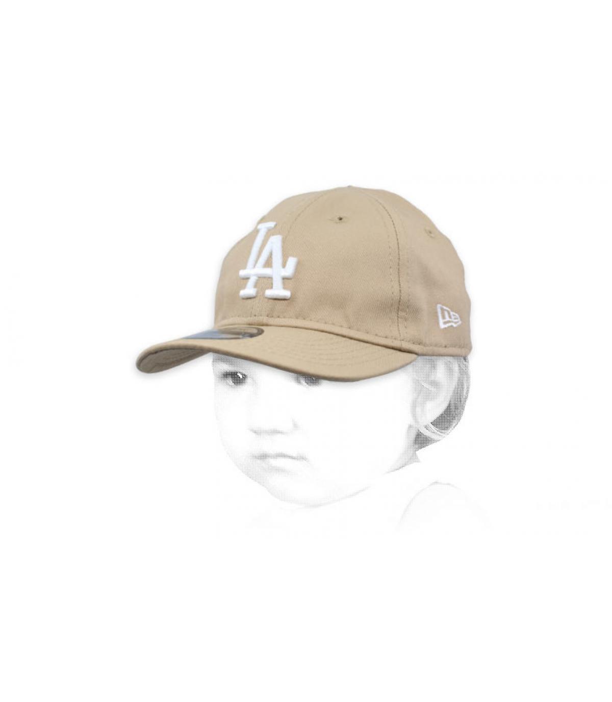 casquette bébé beige LA