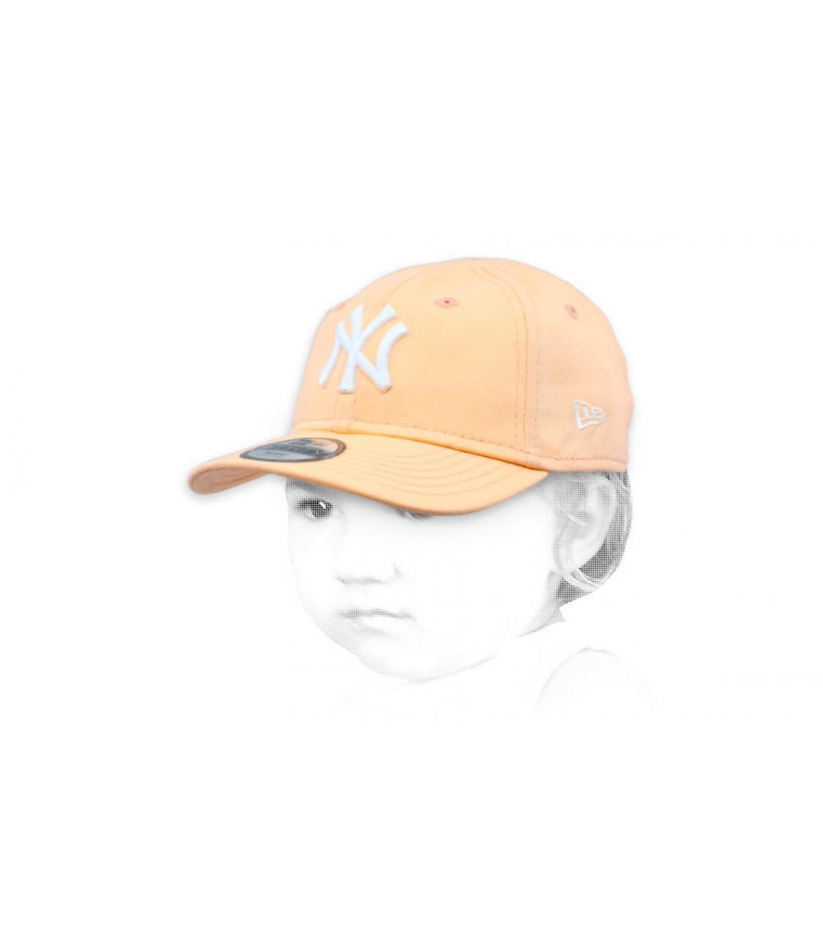 casquette bébé rose NY