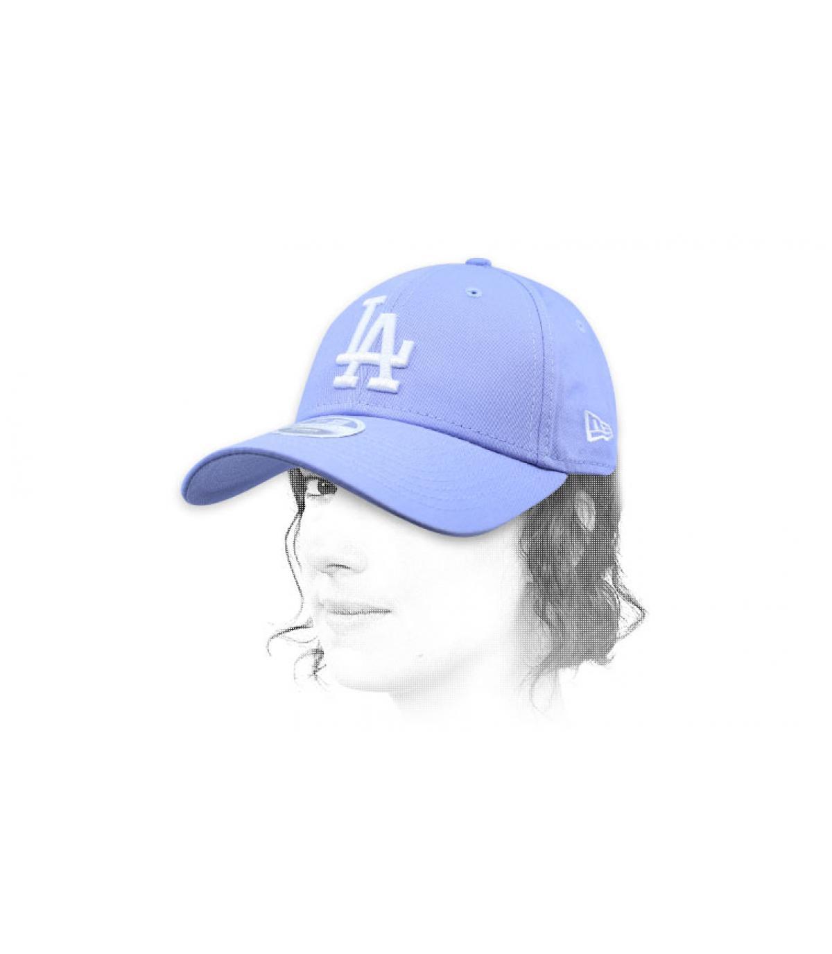 casquette femme LA bleu