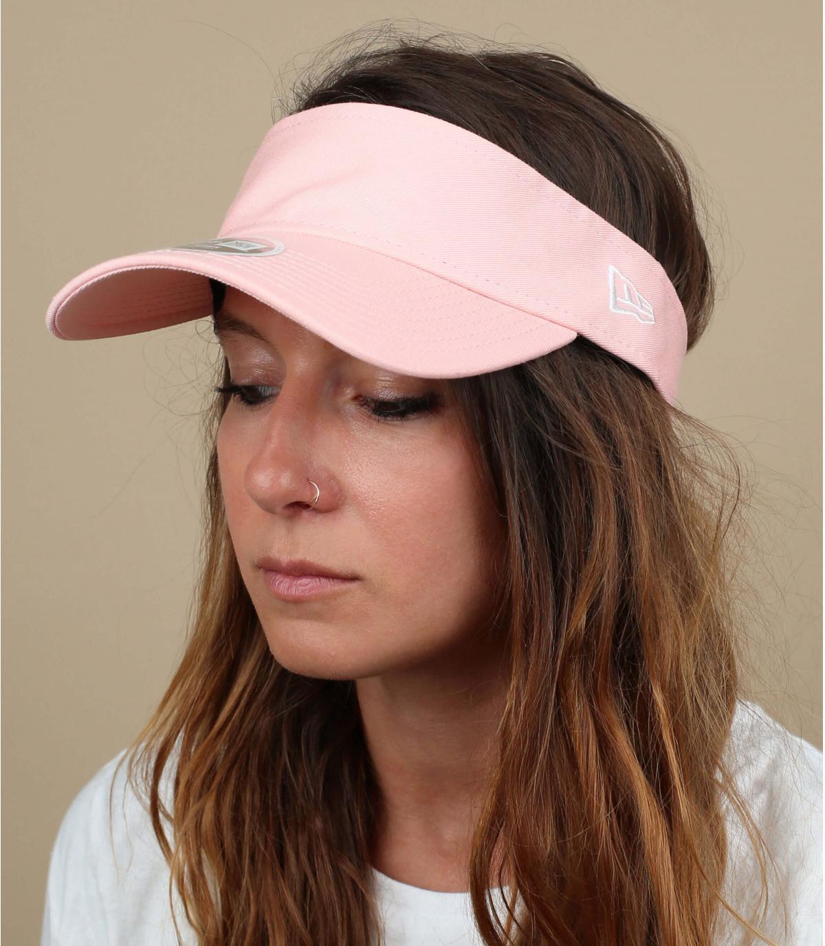 visière rose femme
