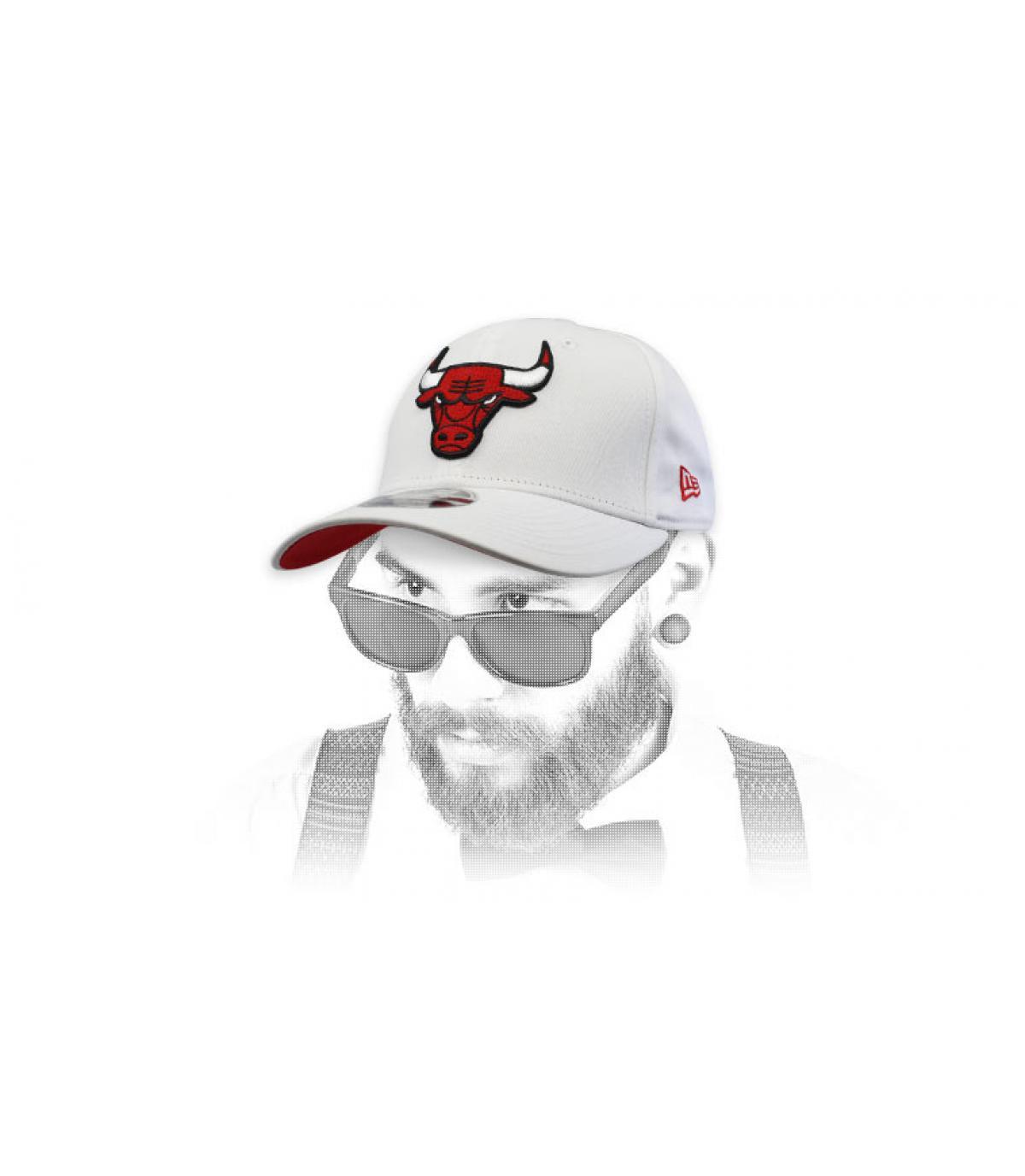 casquette Bulls blanc