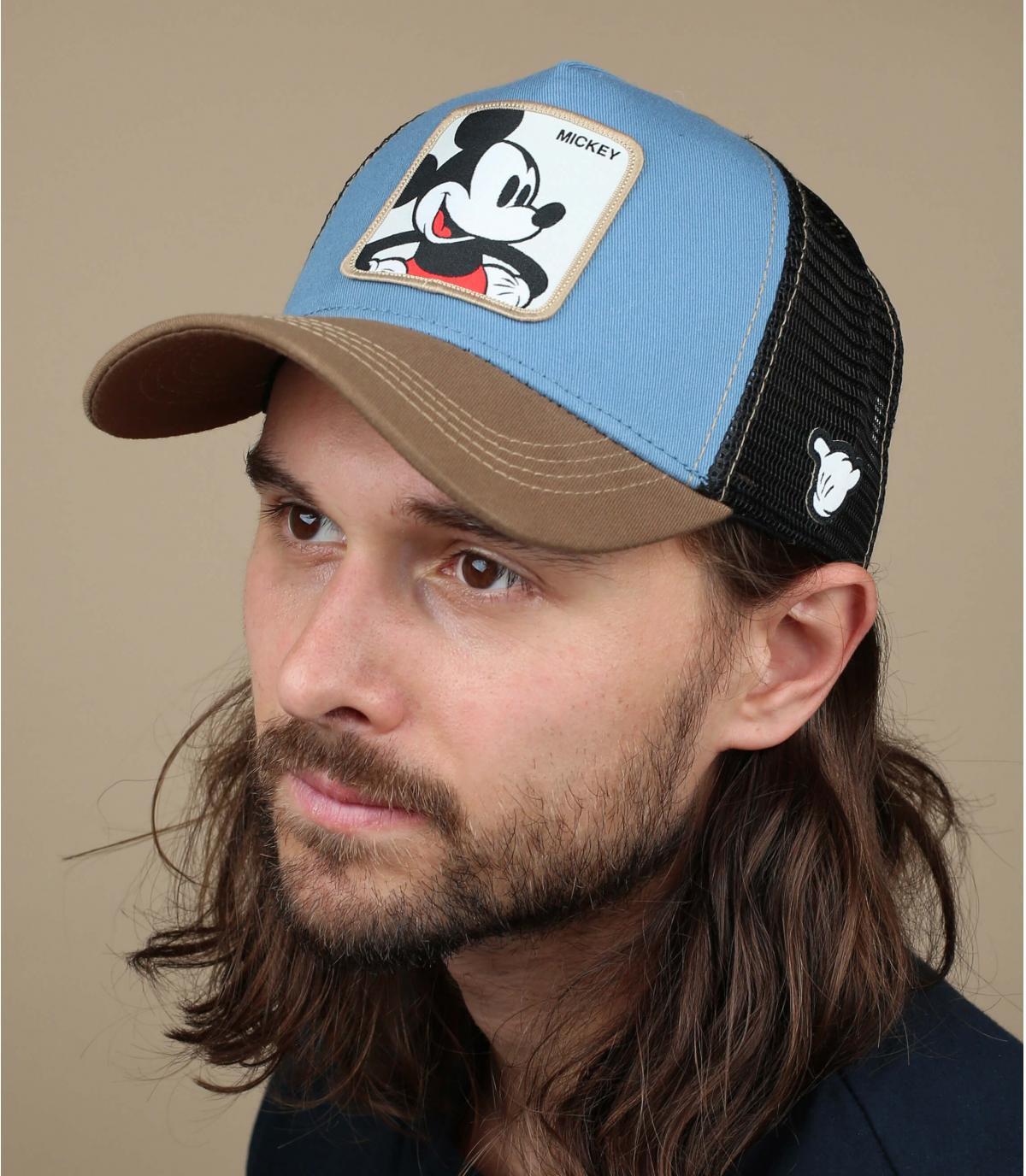 trucker Mickey bleu