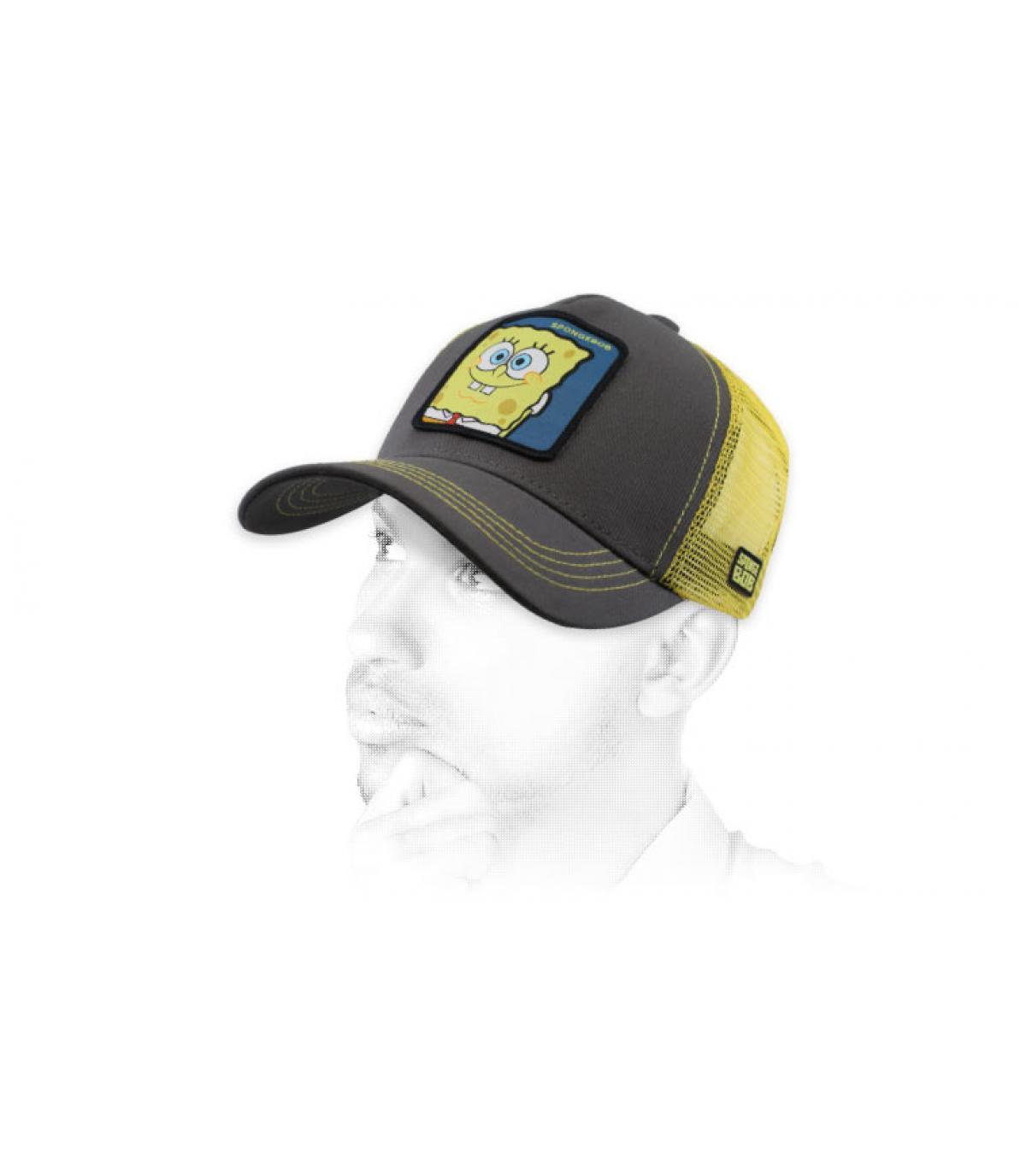trucker Bob l'Éponge gris