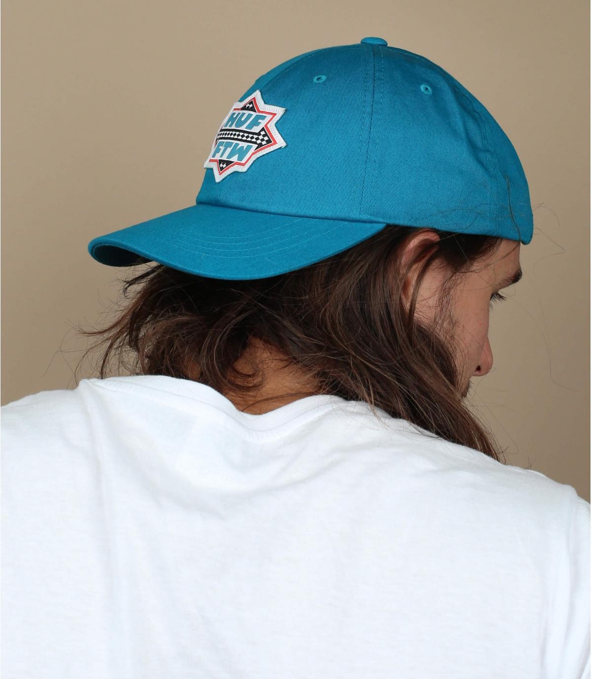 casquette Huf bleu
