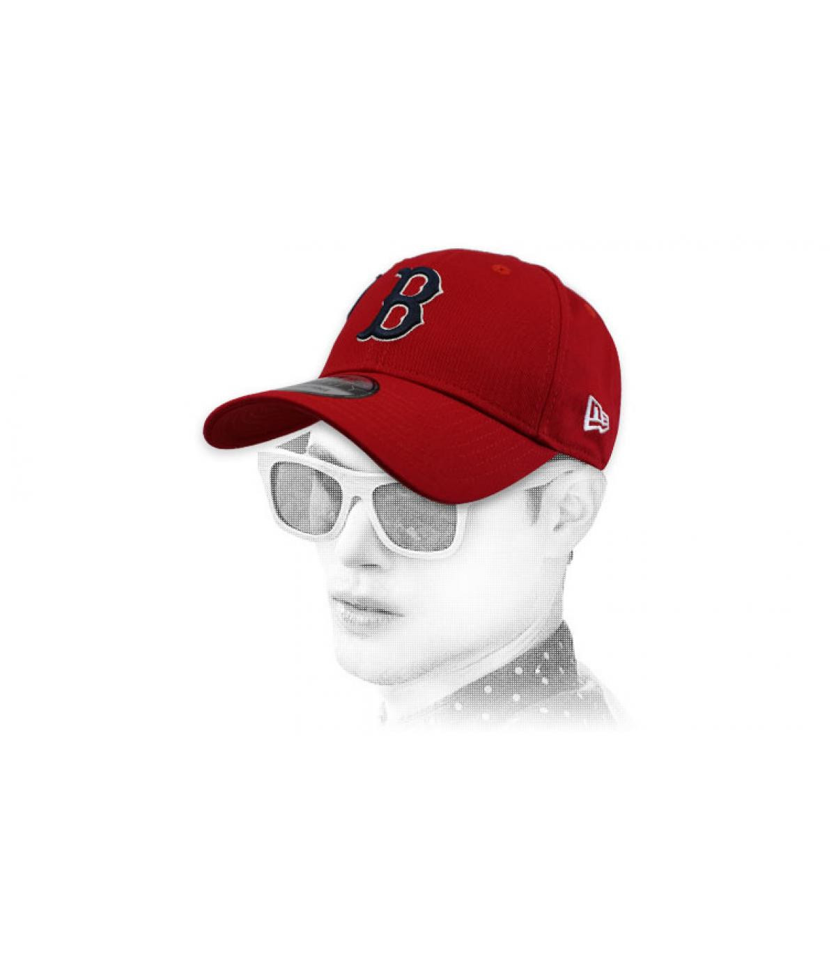 casquette B rouge