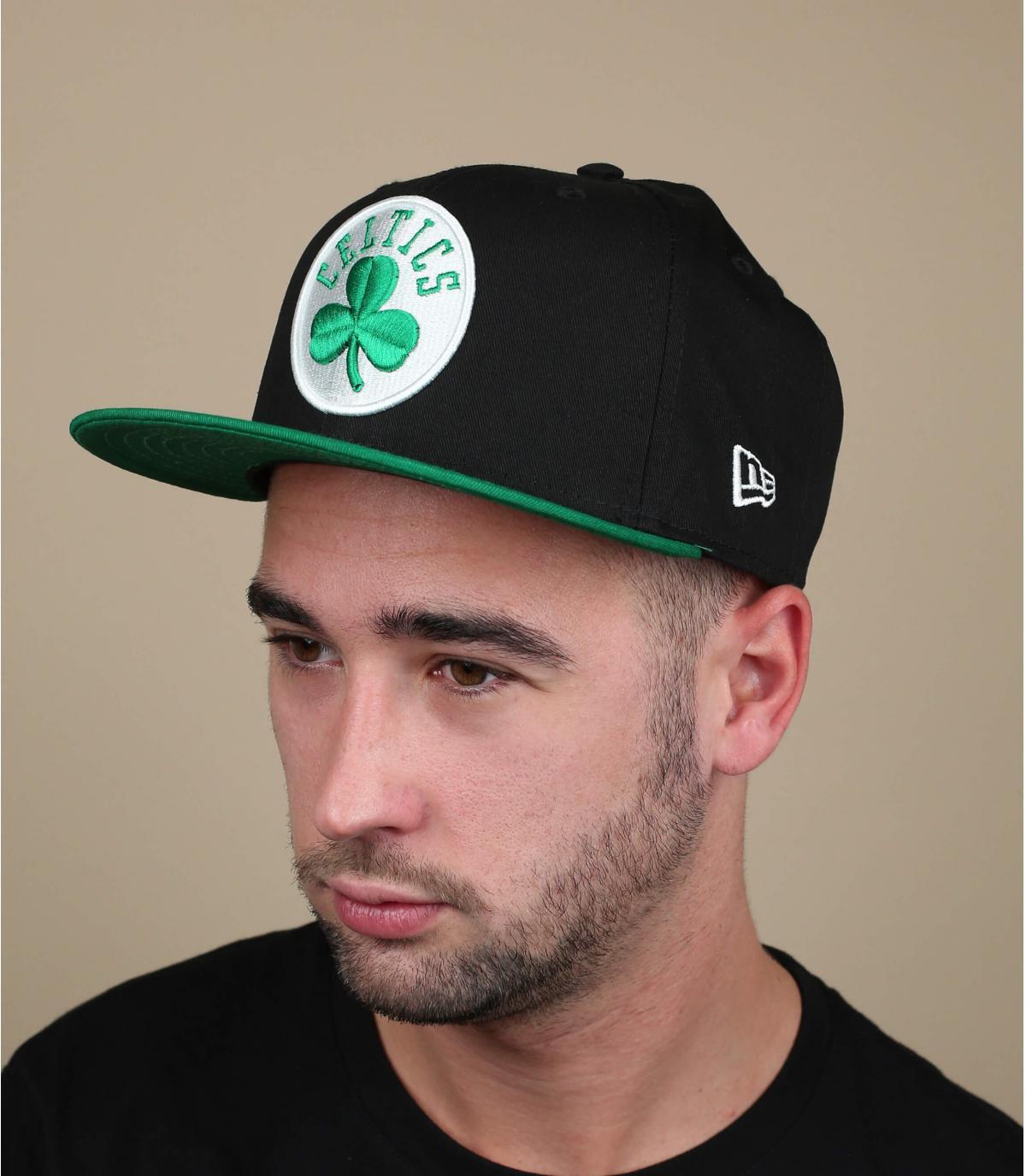 casquette Celtics noir vert