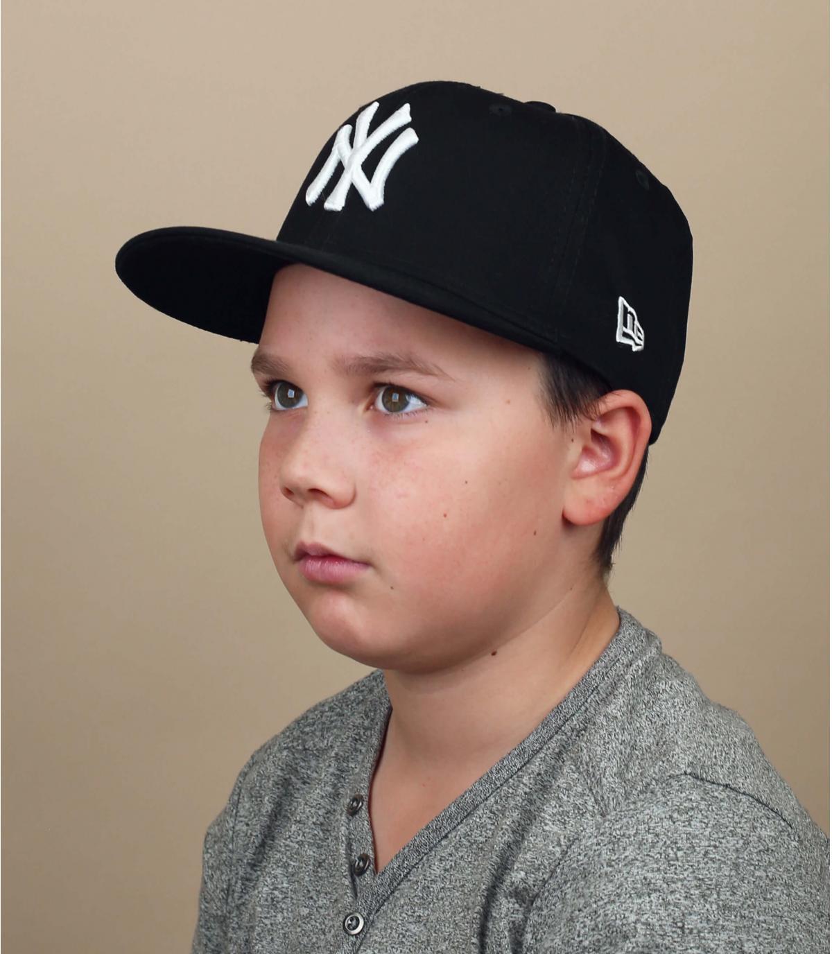 casquette enfant NY noir blanc