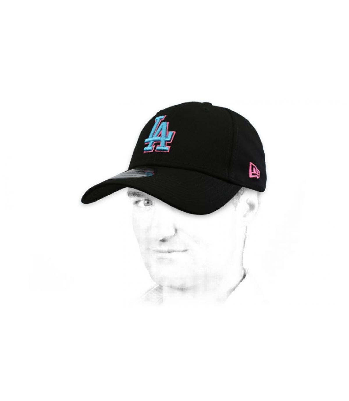 casquette LA noir bleu