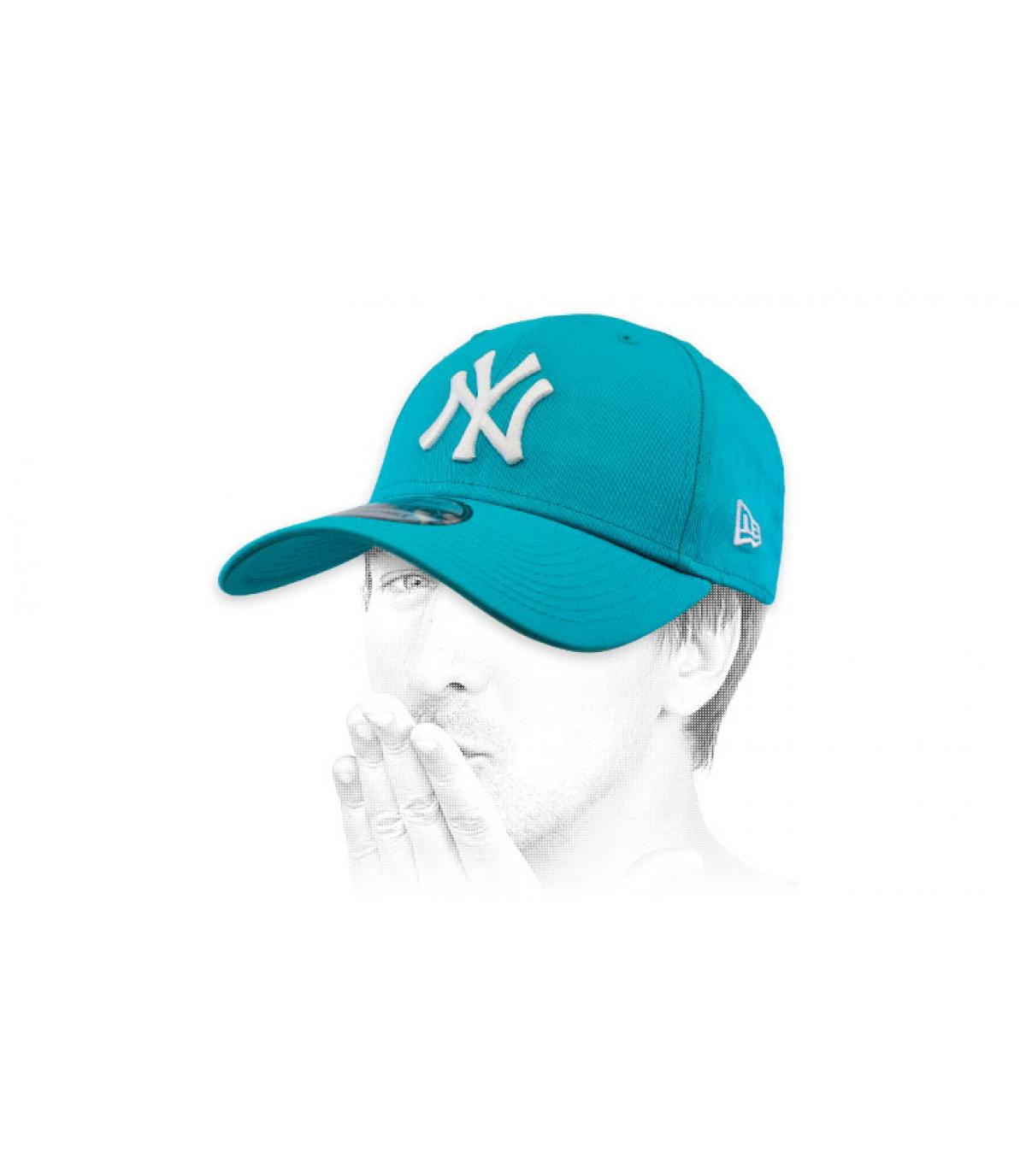 casquette NY bleu blanc